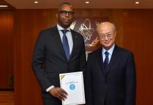 <br> The new Resident Representative of Mali to the IAEA, Mamadou Henri Konate, presented his credentials to IAEA Director General Yukiya Amano at the IAEA headquarters in Vienna, Austria, on 22 February 2018.  </br>  <br> Le nouveau représentant résident du Mali auprès de l'AIEA, Mamadou Henri Konate, a présenté ses lettres de créance au Directeur général de l'AIEA Yukiya Amano au siège de l'AIEA, à Vienne (Autriche), le 22 février 2018.  </br>