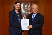 The new Resident Representative of Norway to the IAEA, Kjersti Ertresvaag Andersen, presented her credentials to IAEA Director General Yukiya Amano at the IAEA headquarters in Vienna, Austria on 5 April 2018.
