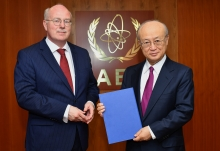 The new Resident Representative of Iceland to the IAEA, Gudni Bragason, presented his credentials to IAEA Director General Yukiya Amano at the IAEA headquarters in Vienna, Austria, on 22 May 2018.
