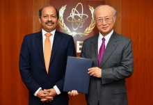 The new Resident Representative of Pakistan to the IAEA, Mansoor Ahmad Khan, presented his credentials to IAEA Director General Yukiya Amano at the IAEA headquarters in Vienna, Austria, on 26 July 2018.