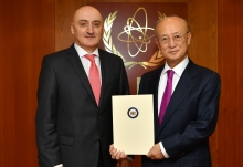The new Resident Representative of Georgia to the IAEA, HE Mr David Dondua, presented his credentials to IAEA Director General Yukiya Amano at the IAEA headquarters in Vienna, Austria, on 21 November 2018.