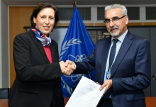 The new Resident Representative of Austria to the IAEA, HE Ms Gabriela Sellner, presented her credentials to Juan Carlos Lentijo (right), IAEA Acting Director General, and Head of the Department of Nuclear Safety and Security at the IAEA headquarters in Vienna, Austria, on 13 December 2018.