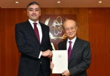 The new Resident Representative of Armenia to the IAEA, HE Mr Armen Papikyan, presented his credentials to IAEA Director General Yukiya Amano at the IAEA headquarters in Vienna, Austria, on 6 February 2019.