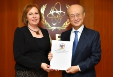 The new Resident Representative of Namibia to the IAEA, HE Ms Nada Kruger, presented her credentials to IAEA Director General Yukiya Amano at the IAEA headquarters in Vienna, Austria, on 12 February 2019.