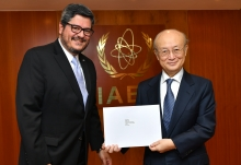 The new Resident Representative of Guatemala to the IAEA, HE Mr Manuel Estuardo Roldán Barillas, presented his credentials to IAEA Director General Yukiya Amano at the IAEA headquarters in Vienna, Austria, on 20 February 2019.