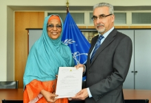 The new Resident Representative of Chad to the IAEA, HE Ms Mariam Ali Moussa, presented her credentials to Juan Carlos Lentijo, IAEA Acting Director General and Head of the Department of Nuclear Safety and Security at the IAEA headquarters in Vienna, Austria, on 25 March 2019