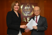 The new Resident Representative of Greece to the IAEA, HE Ms Catherine Koika, presented her credentials to IAEA Director General Yukiya Amano at the IAEA headquarters in Vienna, Austria, on 25 April 2019