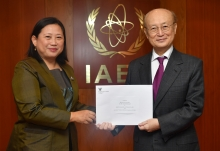 The new Resident Representative of Thailand to the IAEA, HE Ms Morakot Sriswasdi, presented her credentials to IAEA Director General Yukiya Amano at the IAEA headquarters in Vienna, Austria, on 3 May 2019