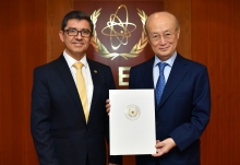 The new Resident Representative of Paraguay to the IAEA, HE Mr Juan Francisco Facetti, presented his credentials to IAEA Director General Yukiya Amano at the IAEA headquarters in Vienna, Austria, on 10 May 2019