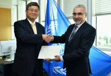 The new Resident Representative of the Republic of Korea to the IAEA, HE Mr Chae-Hyun Shin, presented his credentials to Juan Carlos Lentijo, IAEA Acting Director General, and Head of the Department of Nuclear Safety and Security at the IAEA headquarters in Vienna, Austria, on 9 July 2019