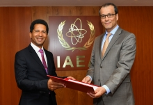 The new Resident Representative of France to the IAEA, HE Mr Xavier Sticker, presented his credentials to Cornel Feruta, IAEA Acting Director General at the Agency headquarters in Vienna, Austria, on 2 August 2019