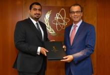 The new Resident Representative of the Kingdom of Saudi Arabia to the IAEA, His Royal Highness Prince Abdulla bin Khaled bin Sultan bin Abdulaziz, presented his credentials to Cornel Feruta, IAEA Acting Director General at the Agency headquarters in Vienna, Austria, on 30 August 2019