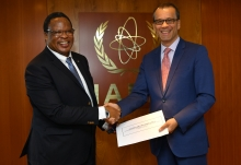 The new Resident Representative of South Africa to the IAEA, HE Mr Rapulane Molekane, presented his credentials to Cornel Feruta, IAEA Acting Director General at the Agency headquarters in Vienna, Austria, on 5 September 2019