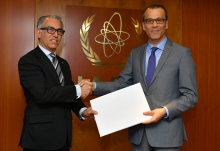 The new Resident Representative of Uruguay to the IAEA, HE Mr Juan Carlos Ojeda Viglione, presented his credentials to Cornel Feruta, IAEA Acting Director General at the Agency headquarters in Vienna, Austria, on 6 September 2019