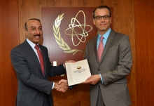 The new Resident Representative of Qatar to the IAEA, HE Mr. Sultan Salmeen Almansouri, presented his credentials to Cornel Feruta, IAEA Acting Director General at the Agency headquarters in Vienna, Austria, on 11 September 2019