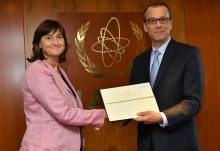 The new Resident Representative of Bulgaria to the IAEA, HE Ms Emilia Ivanova Kraleva, presented her credentials to Cornel Feruta, IAEA Acting Director General at the Agency headquarters in Vienna, Austria, on 12 September 2019