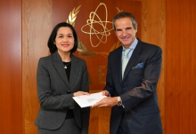 The new Resident Representative of El Salvador to the IAEA, HE Ms. Julia Emma Villatoro Tario, presented her credentials to IAEA Director General Rafael Mariano Grossi at the Agency headquarters in Vienna, Austria, on 22 January 2020