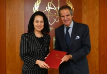 The new Resident Representative of Poland to the IAEA, HE Ms. Dominika Anna Krois, presented her credentials to IAEA Director General Rafael Mariano Grossi at the Agency headquarters in Vienna, Austria, on 7 February 2020.