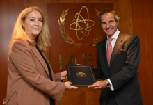 The new Resident Representative of Spain to the IAEA, HE Ms. Esther Monterrubio Villar, presented her credentials to IAEA Director General Rafael Mariano Grossi at the Agency headquarters in Vienna, Austria, on 10 September 2020.