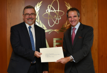 The new Resident Representative of Argentina to the IAEA, HE Mr. Gustavo Ainchil, presented his credentials to IAEA Director General Rafael Mariano Grossi, at the Agency headquarters in Vienna, Austria. 12 January 2021