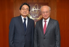Call by new Resident Representative of Korea, Shin Dong-ik, as he met with IAEA Director General Yukiya Amano at the IAEA headquarters in Vienna, Austria on 10 January 2017.