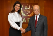 IAEA Director General Yukiya Amano met with Leena Al-Hadid, Resident Representative of Jordan to the IAEA and Board of Governors Chairperson for 2018-2019 at the Agency headdquarters in Vienna, Austria. 6 November 2018