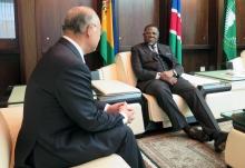 IAEA Director General Yukiya Amano met President Hage G. Geingob during his official visit to Namibia. 17 May 2016