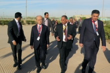 IAEA Director General Yukiya Amano receives a warm welcome upon his arrival to the  Research Reactor (ETRR-2) in Inshas, during his official visit to Egypt. 3 February 2019