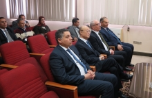 IAEA Director General Yukiya Amano met with staff, during his visit to the  Research Reactor (ETRR-2) in Inshas, Egypt. 3 February 2019