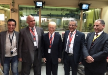 IAEA Director General Yukiya Amano met with Mr. Atef Abdel Hamid (2nd from right), Chairperson of the Egyptian Atomic Energy Authority (EAEA) and staff of the Research Reactor (ETRR-2) in Inshas, during his official visit to Egypt. 3 February 2019