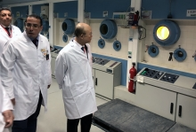 IAEA Director General Yukiya Amano tours the Medical Isotope Facility, during his official visit to Egypt. 3 February 2019