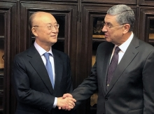 IAEA Director General Yukiya Amano met with H.E. Mr. Mohamed Shaker El-Markabi, Minister of Electricity and Renewable Energy of Egypt, during his official visit to Cairo, Egypt. 4 February 2019.