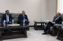 IAEA Director General Yukiya Amano met with Mr. Atef Abdel Hamid, Chairperson of the Egyptian Atomic Energy Authority (EAEA), during his visit to the Research Reactor (ETRR-2) in Inshas, Egypt. 3 February 2019