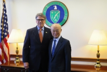 IAEA Director General Yukiya Amano met with Rick Perry, US Secretary of Energy during his official visit to Washington DC, USA. 3 April 2019.