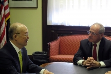 IAEA Director General Yukiya Amano met with Senator Jim Risch, US Chairman of the Senate Foreign Relations Committee during his official visit to Washington DC, USA. 4 April 2019.