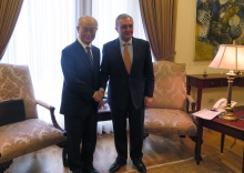 IAEA Director General Yukiya Amano met with His Excellency Zohrab Mnatsakanyan, Minister of Foreign Affairs of the Republic of Armenia during his official visit to Yerevan, Armenia on 29 April 2019.