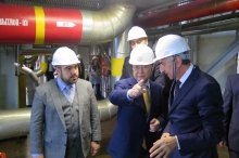 IAEA Director General Yukiya Amano tours the Armenian Nuclear Power Plant (ANPP) in Metsamor during his official visit to Armenia. 29 April 2019. (In the photo with Mr Hakob Vardanyan, Acting Minister of Energy Infrastructures and Natural Resources and Mr. Movses Vardanyan ANPP General Director)
