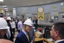 IAEA Director General Yukiya Amano tours the Armenian Nuclear Power Plant (ANPP) in Metsamor during his official visit to Armenia. 29 April 2019