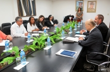 IAEA Director General Yukiya Amano met with Dr Alfredo Gonzalez Lorenzo, Deputy Minister of Health of Cuba, during his official visit to Havana, Cuba, 17 May 2019. Far right: Luis Carlos Longoria Gandara, IAEA Director, Division for Latin America and the Caribbean, Department of Technical Cooperation