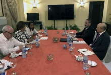 IAEA Director General Yukiya Amano met with Elba Rosa Pérez Montoya, Minister of Science, Technology and Environment of Cuba, during his official visit to Havana, Cuba, 17 May 2019. Far right: Luis Carlos Longoria Gandara, IAEA Director, Division for Latin America and the Caribbean, Department of Technical Cooperation