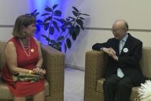 IAEA Director General Yukiya met with Consuelo Vidal, UNDP Resident Representative during his official visit to Cuba. 20 May 2019