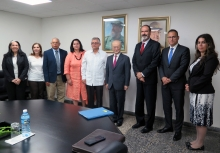 IAEA Director General Yukiya Amano pose for a group photo with Dr Alfredo Gonzalez Lorenzo, Deputy Minister of Health of Cuba and his staff during his official visit to Havana, Cuba, 17 May 2019. DG Amano is accompanied with Luis Carlos Longoria Gandara (third from right), IAEA Director, Division for Latin America and the Caribbean, Department of Technical Cooperation and Edgard Perez Alvan (second from right), Assistant to the DG and Deputy Coordinator