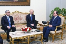 IAEA Director General Yukiya Amano met with H.E. Abdel Fattah el-Sisi, President of the Arab Republic of Egypt, during his official visit to Cairo, Egypt. 3 February 2019