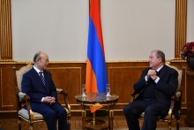 IAEA Director General Yukiya Amano met with His Excellency Armen Sarkissian, President of the Republic of Armenia during his official visit to Yerevan, Armenia on 29 April 2019.   Photo Credit: Office of the President of Armenia