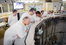 IAEA Director General Yukiya Amano tours the Belgian Nuclear Research Facility SCK-CEN during his official visit to Belgium. 21 March 2018  Photo Credit: SCK-CEN