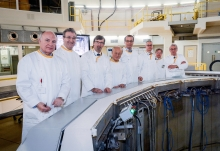 IAEA Director General Yukiya Amano tours the Belgian Nuclear Research Facility SCK-CEN during his official visit to Belgium. 21 March 2018. Fourth from right, Cornel Feruta, IAEA Chief Coordinator. 21 March 2018  Photo Credit: SCK-CEN