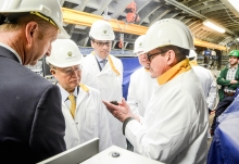 IAEA Director General Yukiya Amano tours the Underground Research Facility (HADES), during his official visit to Belgium. 21 March 2018.  Photo Credit: SCK-CEN
