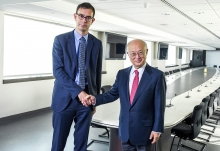 On June 25, 2018, ahead of the World Nuclear Energy International Exhibition in Paris, François Jacq, CEA General Administrator, received Yukiya Amano, Director General of the International Atomic Energy Agency (IAEA) at CEA's Paris headquarters. 