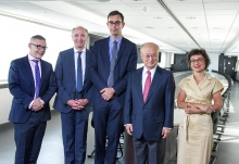 On June 25, 2018, ahead of the World Nuclear Energy International Exhibition in Paris, François Jacq, CEA General Administrator, received Yukiya Amano, Director General of the International Atomic Energy Agency (IAEA) at CEA's Paris headquarters. They were accompanied by Mr. Jean-Louis Falconi, Ambassador Permanent Representative of France to the United Nations Office and International Organizations in Vienna, Anne Lazar-Sury, Director of International Relations of CEA and Governor for France IAEA, as well as Serge Gas, Director of IAEA Division of Public Information and Communication.