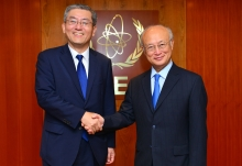 IAEA Director General Yukiya Amano met with Kim Hyoung-zhin, Deputy Minister for Political Affairs, Ministry of Foreign Affairs, Republic of Korea at the IAEA headquarters in Vienna, Austria on 5 July 2016.